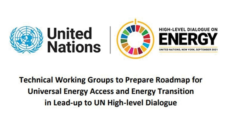 Image of the United Nations Logo and the UN High-level dialogue on energy logo